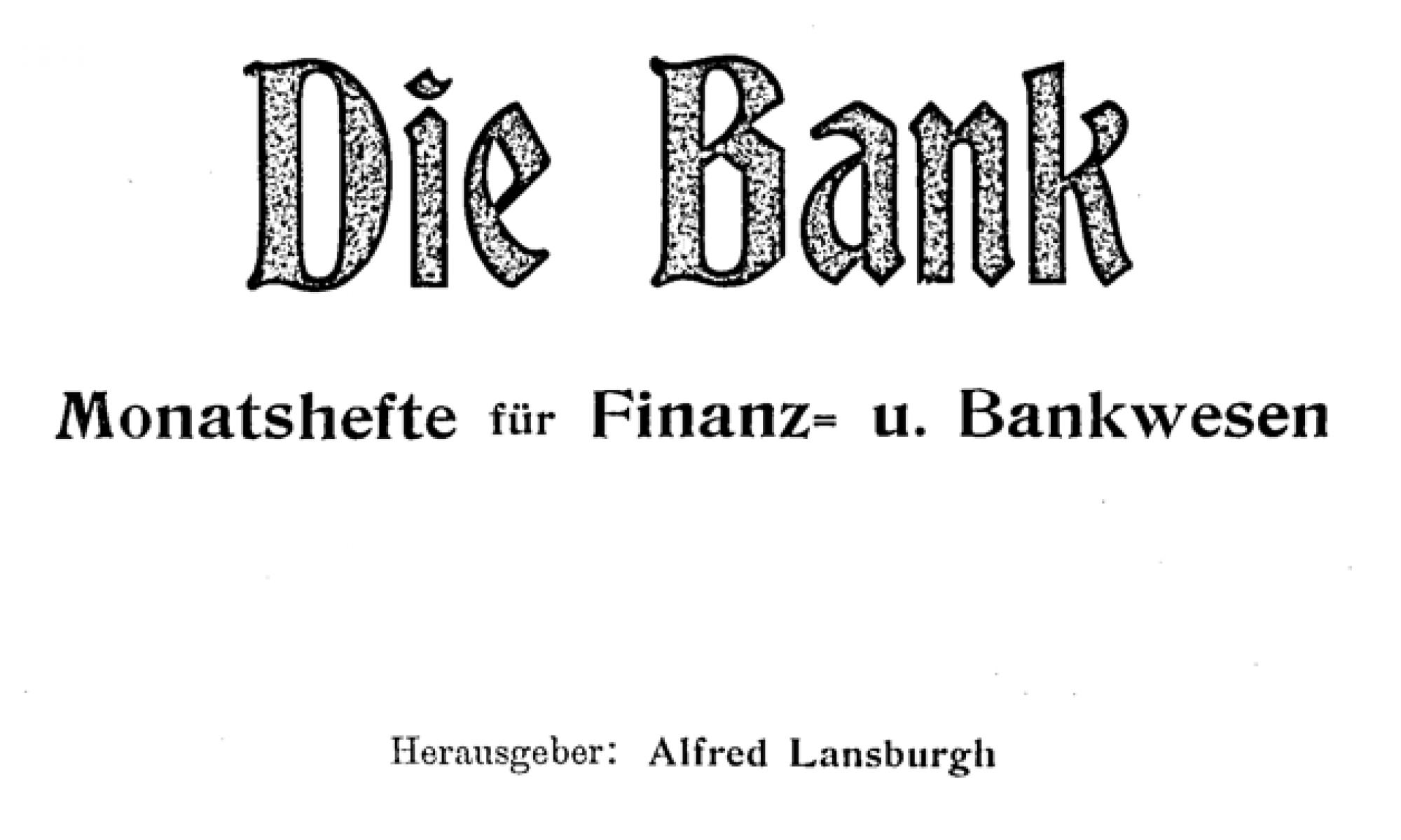 Alfred Lansburgh (1872-1937)